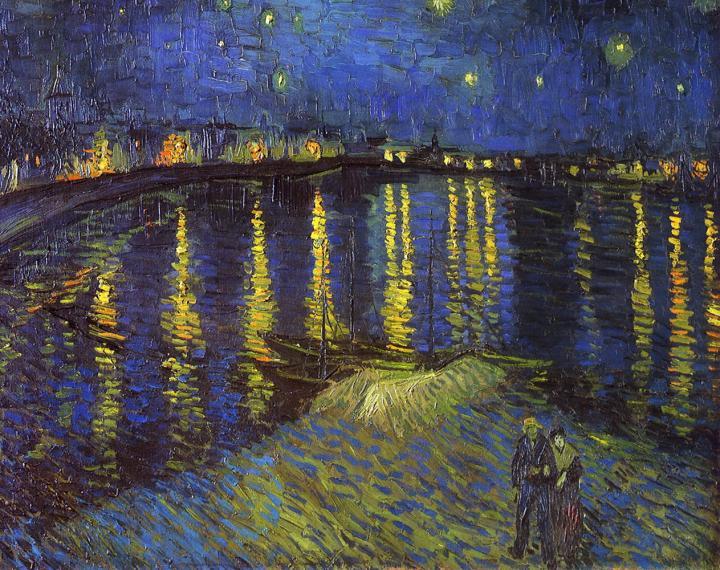 Звёздная ночь над Роной [ картина - пейзаж ] :: Ван Гог, описание картины - Van Gogh (Ван Гог) фото