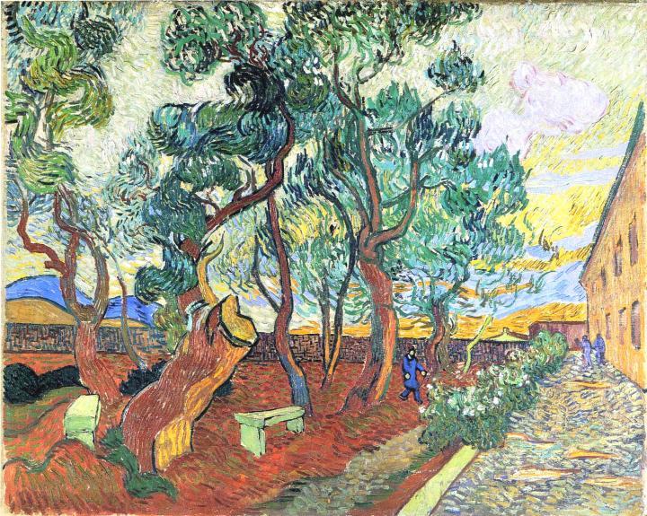 городской пейзаж Сад при приюте в Сан-Реми :: Ван Гог, описание картины - Van Gogh фото