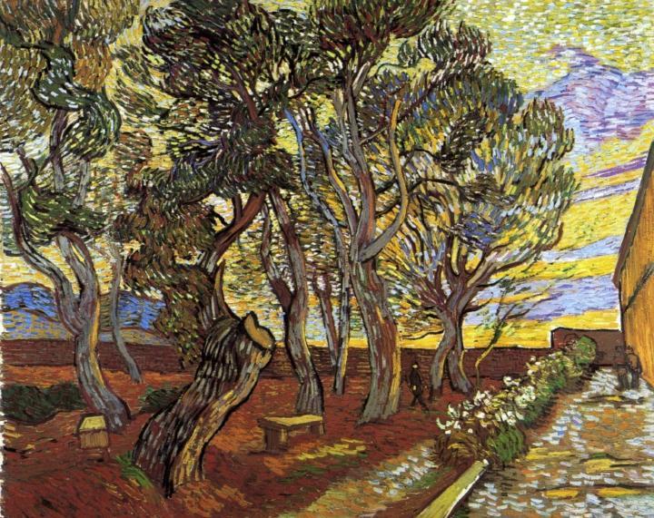 пейзаж Сад при приюте в Сан-Реми :: Ван Гог, описание картины - Van Gogh фото
