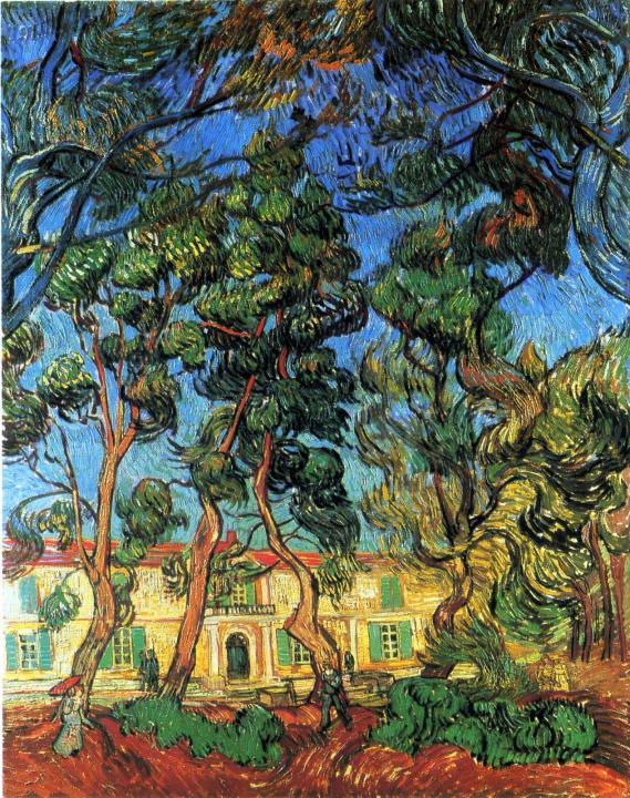 городской пейзаж с каштанами Угодья приюта :: Ван Гог, описание картины - Van Gogh фото