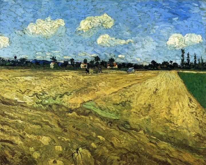 Вспаханное поле [ картина - пейзаж ] :: Ван Гог - Van Gogh фото