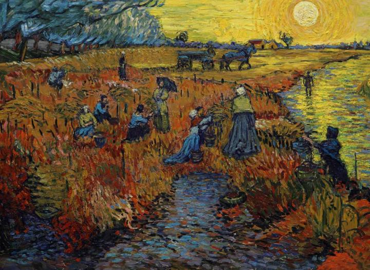 пейзаж Красное поле :: Ван Гог, описание картины - Van Gogh фото