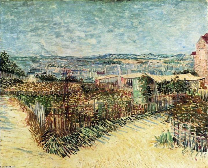 """пейзаж """"Огороды в Монмартре"""" :: Ван Гог, описание картины - Van Gogh фото"""