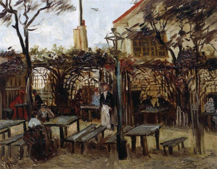 городской пейзаж Терраса кафе на Монмартре :: Ван Гог, описание картины - Van Gogh фото