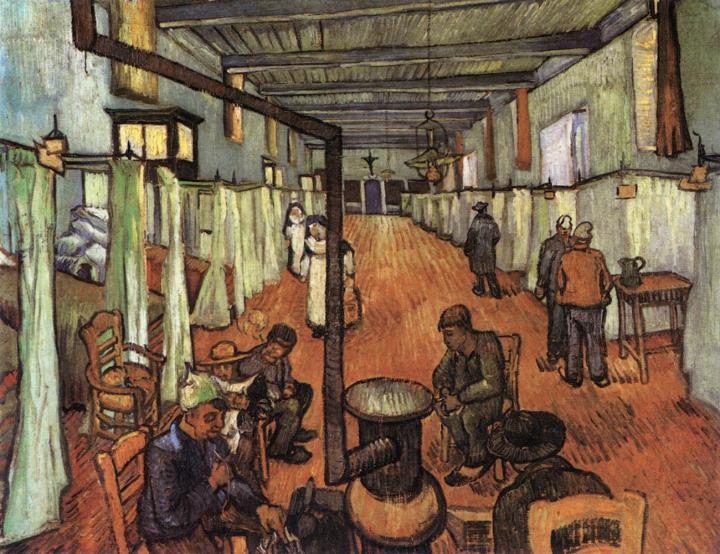 Палата арльзкой больницы:: Ван Гог, описание картины - Van Gogh (Ван Гог) фото