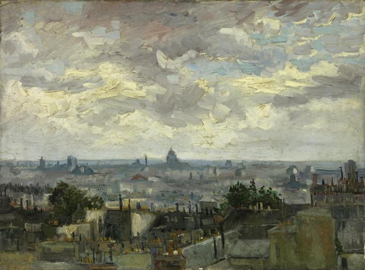 городской пейзаж Крыши Парижа :: Ван Гог, описание картины - Van Gogh фото