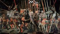 Учелло Паоло (Paolo Uccello) - Битва при Сан-Марино ( правая панель)