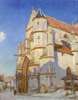 Alfred Sisley (Альфред Сислей) - Церковь в Морэ