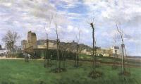 Alfred Sisley (Альфред Сислей) - Вид на Монмартр с Сите-де-Флер
