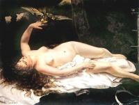 Gustave Courbe - Девушка с попугаем