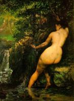 картина Источник (Купальщица в источнике) Весна, Густав Курбе