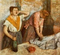 Дега Эдгар  ( Edgar Degas ) - Зевающая девушка ( Гладильщицы )