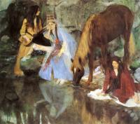 Edgar Degas - М-ль Фиокр в балете «Источник»