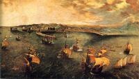 Брейгель Питер - Морской бой в гавани Неаполя