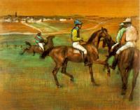 Скаковые лошади, Эдгар Дега