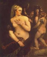 Tiziano Veccellio - Венера перед зеркалом