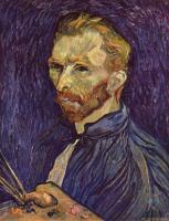 Van Gogh - Винсент Ван Гог картины с названиями и описанием (на фото: Автопортрет с палитрой)