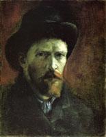 Van Gogh - Автопортрет в темной фетровой шляпе