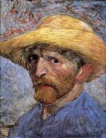 Van Gogh - Автопортрет в соломенной шляпе