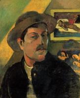 Paul Gauguin - Гоген Поль, картины, живопись, биография ( на фото: Автопортрет)