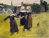 Гоген Поль ( Paul Gauguin ) - Танцующие девочки