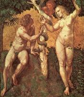 Raffaello Santi - Адам и Ева, мозаика