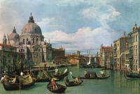 """Каналетто  [ Джованни Антонио Канал) ] - """"Большой канал и Собор Санта Мария делла Салюте"""""""
