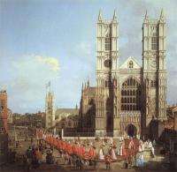 Каналетто  [ Джованни Антонио Канал) ] - Лондон. Вестминстерское аббатство и процессия рыцарей