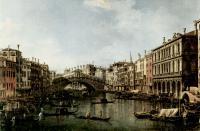 Каналетто  [ Джованни Антонио Канал) ] - Мост Риальто с южной стороны