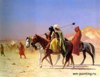 Gerome Jean-Leon - Арабы, пересекающие пустыню