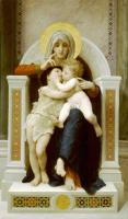 Adolphe William Bouguereau - Мадонна, Иисус и Иоан Креститель