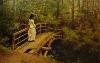 "Ilya Yefimovich Repin - И. Репин ""На мосту в Абрамцево"""