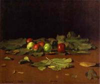 Репин Илья ( Ilya Yefimovich Repin ) - Натюрморт. Яблоки и листья.