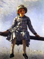 Репин Илья ( Ilya Yefimovich Repin ) - Стрекоза. Портрет Веры Репиной дочери художника.