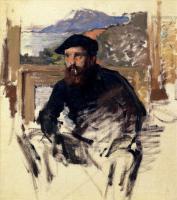 Моне Клод (Claude Monet) - Клод Моне, картины с названием и описанием, биография ( на фото: Автопортрет в мастерской)