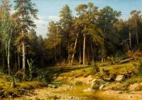 Ivan Shishkin - Сосновый бор. Мачтовый лес в Вятской губернии.