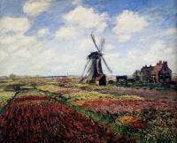 Поле тюльпанов и мельница :: Клод Моне (1840-1926) (Франция )