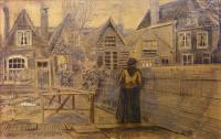 Van Gogh - Дом матери Сиены, вид с заднего двора