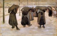 Van Gogh - Женщины-горняки, переносящие уголь