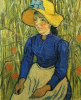 Van Gogh - Молодая крестьянка в соломенной шляпе