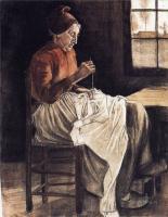 Van Gogh - Женщина за шитьём