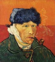 Van Gogh - Автопортрет с отрезанным ухом и трубкой