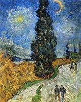 Van Gogh - Кипарисы под звёздным небом (Дорога с кипарисами)