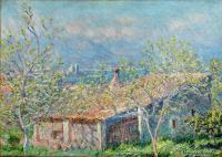 пейзаж < Дом садовника в Антибе >:: Клод Моне ( Claude Monet )