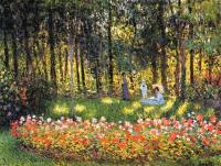 Моне Клод (Claude Monet) - Семья художника в саду