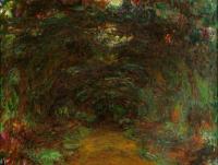 Claude Monet - Тропа под оградой с розами, Живерни