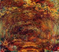 Claude Monet - Тропа под оградой с розами