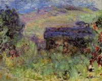 Claude Monet - Вид на дома через розы