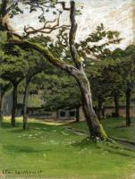 Моне Клод (Claude Monet) - Ферма Норман среди деревьев