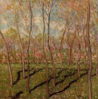 Claude Monet - Деревья зимой, виды Беннекорта